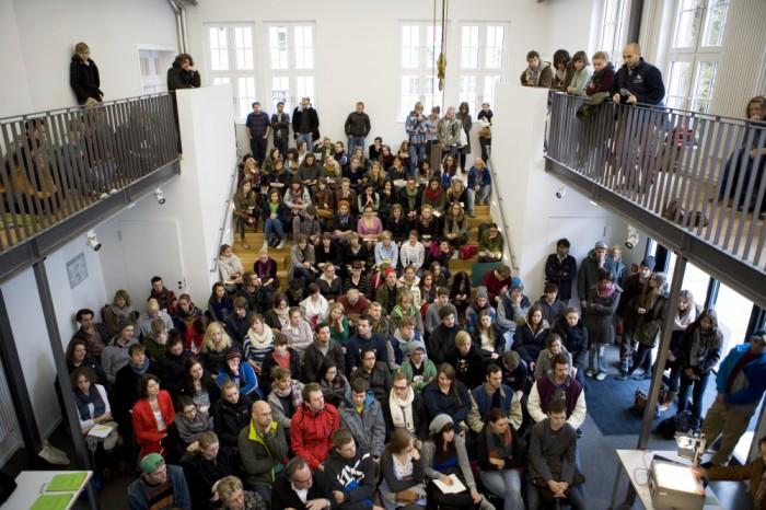 Begrüßung der Erstsemester an der Muthesius Kunsthochschule