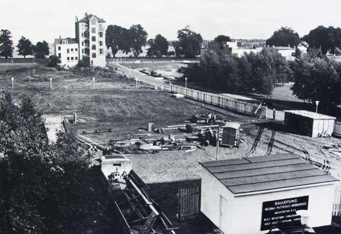 Neubau der Muthesius Werkschule 1959 am Lorentzendamm 6-8  © Archiv Muthesius Kunsthochschule