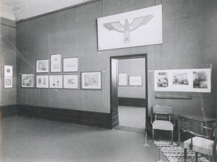 Große Ausstellung der Meisterschule des Deutschen Handwerks Kiel im Rahmen der Frühjahrsschau in der Kunsthalle zu Kiel, 1943  © Archiv Muthesius Kunsthochschule