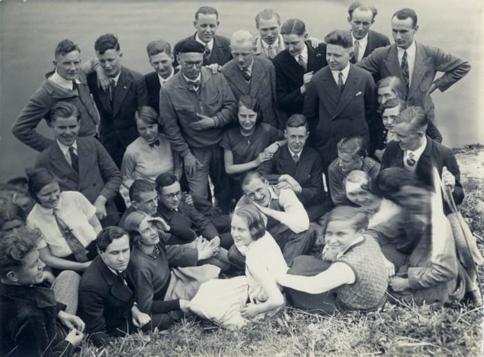 Werner Lange im Kreis seiner Studierenden