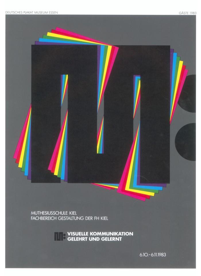 Deutsches Plakatmuseum Essen, 1983  © Archiv Muthesius Kunsthochschule